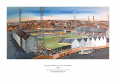 Wolverhampton Wanderers 'Molineux 1970s' A3 Framed print